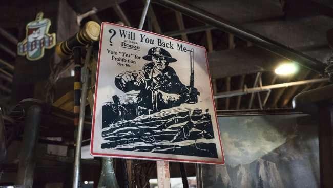 "Aug 3, 2017 - Sign - ""Will You Back Me or Back Booze"" at Paducah Distilled Spirits, Paducah, KY/photonews247.com"