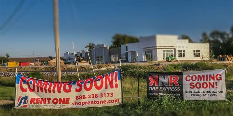 Sept 23, 2017 - Coming Soon Rent One RnR Tire Express 5320 Hinkleville, Paducah KY/photonews247.com