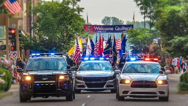 Sept 4, 2017 - Labor Day Parade with Paducah's Police Force leading on Broadway Main Street in Historic Downtown Paducah, KY/photonews247.com