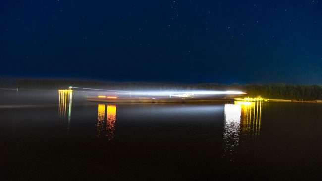 Sept 25, 2017 - Paducah's Transient Dock - what boaters might see at night/photonews247.com