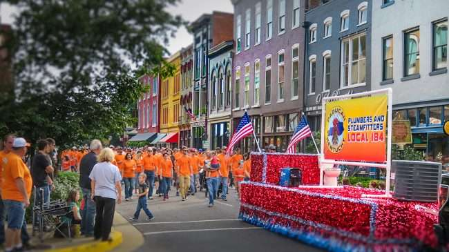 Sept 4, 2017 - Plumber and Steamfitter Local 184 participate in Paducah's Labor Day Parade on 3rd and Broadway Mains Street downtown/photonews247.com