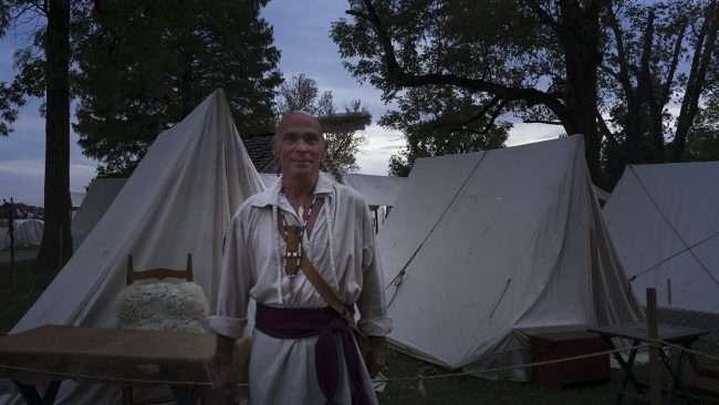 Oct 20, 2017 - Indian Actor looks authentic during Fort Massac Encampment, Metropolis, IL/photonews247.com