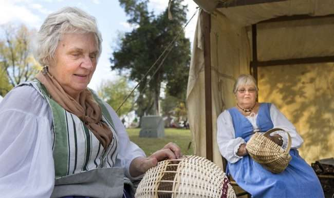 Oct 21, 2017 - Women basket weaving during 44th Annual Fort Massac Encampment, Metropolis, IL/photonews247.com