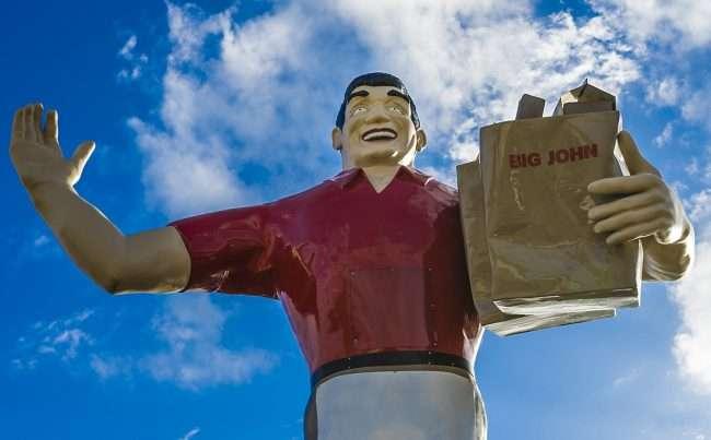 Oct 21, 2017 - Big Johns Grocery Stature Metropolis, IL/photonews247.com
