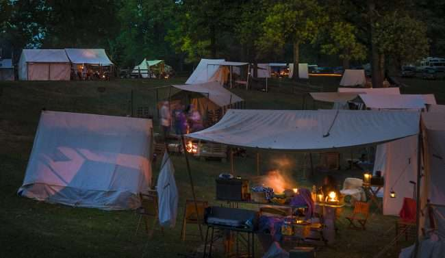 Oct 21, 2017 - Camping at night during Fort Massac Encampment, Metropolis, IL/photonews247.com