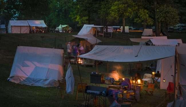 Oct 21, 2017 - Camping at night during Fort Massac Encampment, Metropolis, IL/photonews247.com