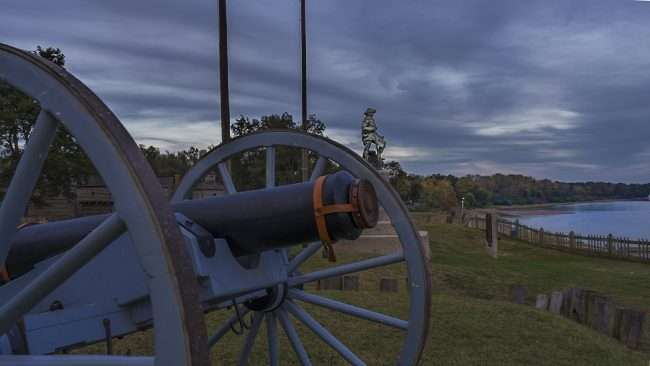 Oct 20, 2017 - Cannon with George Rogers Clark and Ohio River during Fort Massac Encampment, Metropolis, IL/photonews247.com
