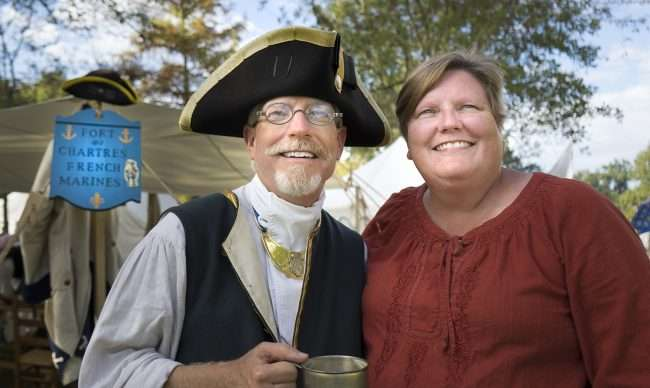 Oct 21, 2017 - Fort Chartres French Marines Mike and Maryann at 44th Fort Massac Encampment, Metropolis, IL/photonews247.com