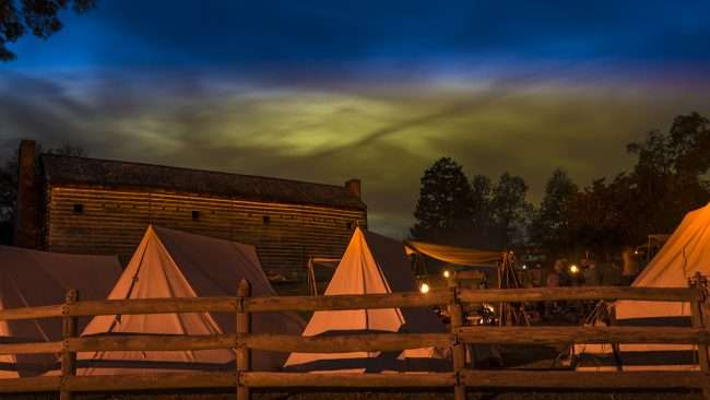 Oct 10, 2017 - Fort Massac Encampment the night before in Metropolis, IL/photonews247.com