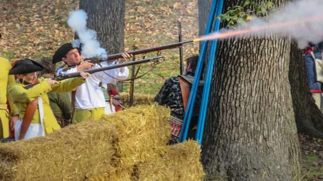 Oct 21, 2017 - French Solder fires musket at 44th Annual Fort Massac Encampment 2017/photonews247.com