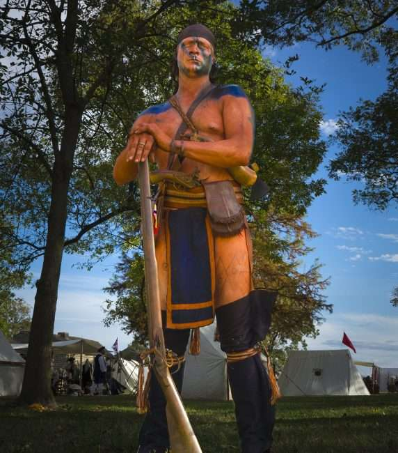 Oct 21, 2017 - Indian Actor participating in the 44th Annual Fort Massac Encampment, Metropolis, IL/photonews247.com