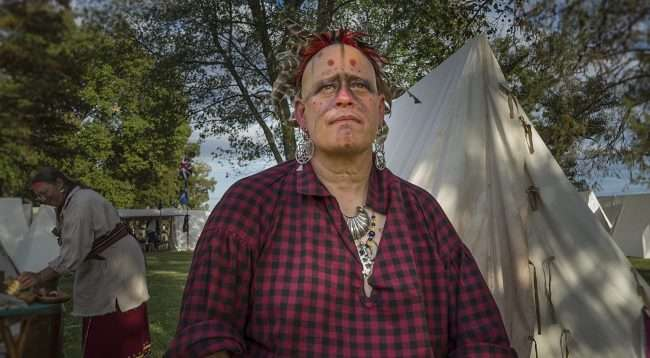 Oct 21, 2017 - Indian sits down after Mock Battle at 44th Annual Fort Massac Encampment, Metropolis, IL/photonews247.com