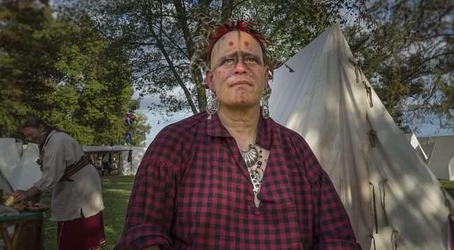 Oct 21, 2017 - Indian sits down after Mock Battle at 44th Annual Fort Massac Encampment, Metropolis, IL/photonews247.com