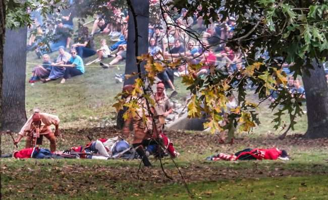 Oct 21, 2017 - Indians get upper hand in Mock Battle at 44th Annual Fort Massac Encampment 2017/photonews247.com