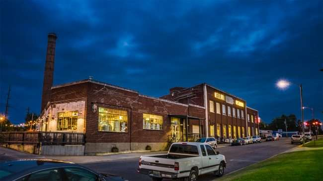 Oct 2, 2017 - Mellow Mushroom restaurant with back patio at Historic Coca Cola Bottling Plant, Broadway St, Paducah KY/photonews247.com