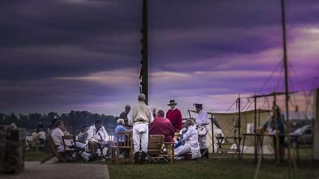Oct 21, 2017 - Ohio River Chapter meeting during Fort Massac Encampment, Metropolis, IL/photonews247.com
