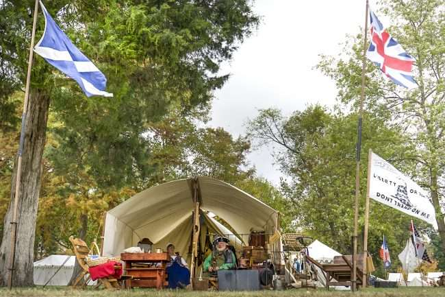 Oct 22, 2017 - Reenactors and residence of Rock Ridge Militia at Fort Massac Encampment, Metropolis, IL/photonews247.com