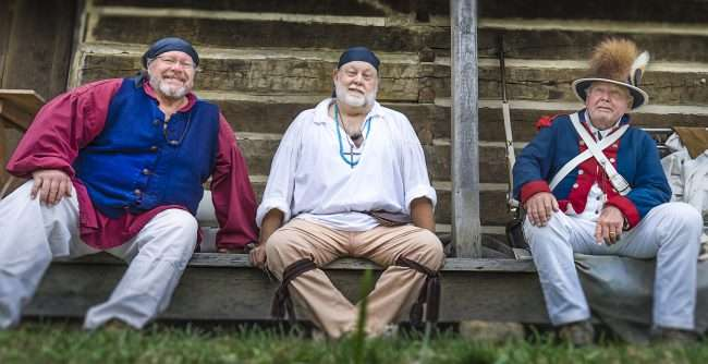 Oct 22, 2017 - Reenactors resting after mock battle at Fort Massac Encampment, Metropolis, IL/photonews247.com