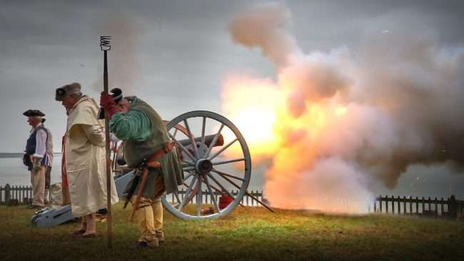 Oct 22, 2017 - Rock Ridge Militia Artillery fires canon at 44th Annual Fort Massac Encampment, Metropolis, IL/photonews247.com