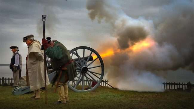 Oct 22, 2017 - Rock Ridge Militia Artillery fires canon over Ohio River at 44th Annual Fort Massac Encampment, Metropolis, IL/photonews247.com