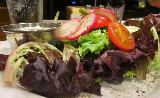 Oct 20, 2017 - Side Salad along with Rib Entree at Bridges Restaurant at Harrah's Casino in Metropolis, IL/photonews247.com