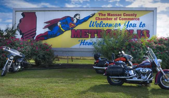 Oct 21, 2017 - Superman Billboard on 5th Street Welcome to Metropolis, IL/photonews247.com