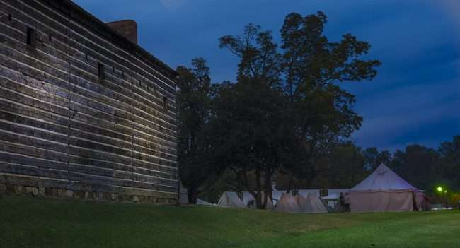 Oct 20, 2017 - Tents next to Fort during Fort Massac Encampment, Metropolis, IL/photonews247.com