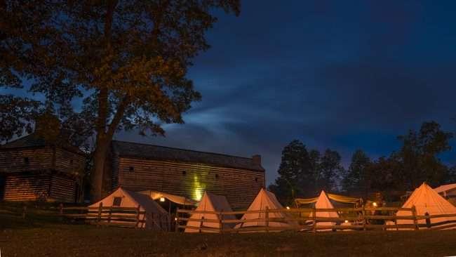 Oct 20, 2017 - Tents on hill at Fort Massac Park Encampment, Metropolis, IL/photonews247.com