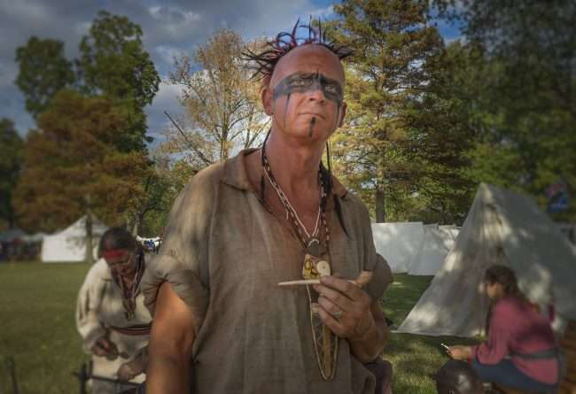 Oct 21, 2017 - Tim acting as Indian during the 44th Annual Fort Massac Encampment, Metropolis, IL/photonews247.com