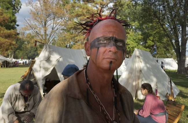 Oct 21, 2017 - Tim in character as Indian during 44th Fort Massac Encampment, Metropolis, IL/photonews247.com