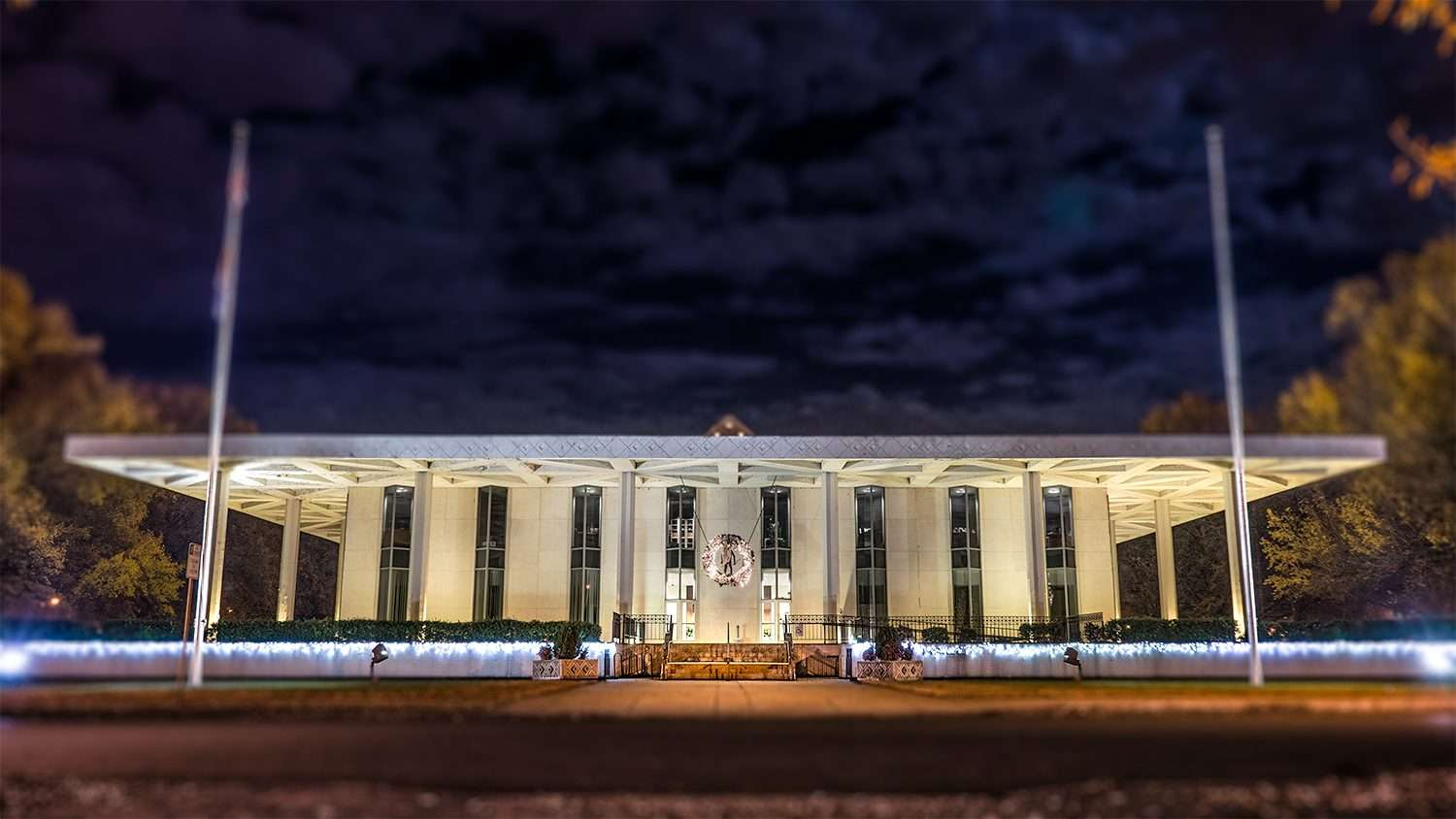 Nov 29, 2017 Paducah City Hall building with Christmas lights/photonews247.com