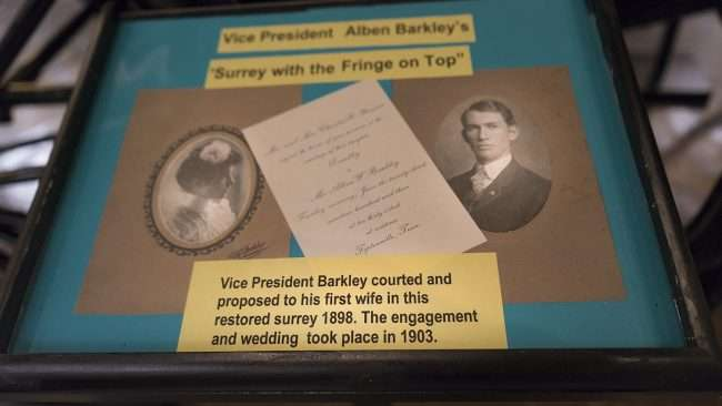 Nov 17, 2017 - Photo of Vice President Alben Barkley and first wife displayed at Market House Museum Paducah/photonews247.com