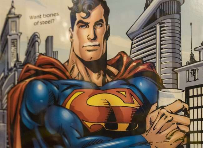 Nov 12, 2017 - Superman drinking milk Ad at Super Museum Metropolis, IL/photonews247.com