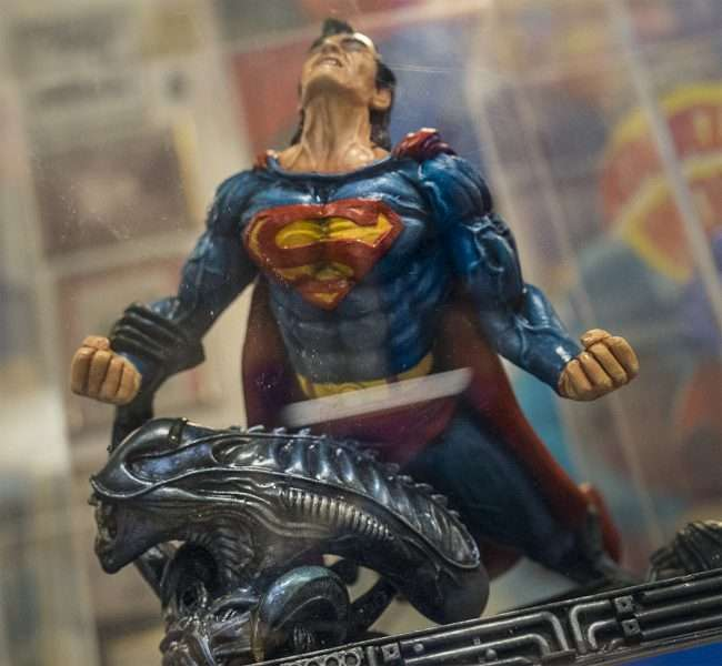 Nov 12, 2017 - Superman toy vs Alien at Super Museum Metropolis, IL/photonews247.com