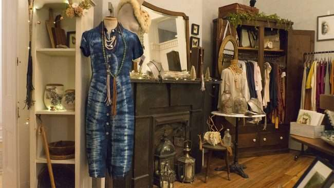 Dec 8, 2017 - Blue dress by local designer Lily Liu sold at Raven and Moth, downtown Paducah, KY/photonews247.com