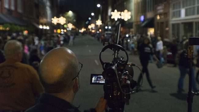Dec 2, 2017 - Christmas Parade Downtown Paducah with videographer recording event/photonews247.com