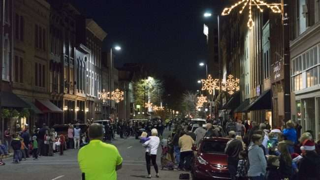 Dec 2, 2017 - Christmas Parade Downtown Paducah with a general view of crowd on Broadway Main Street/photonews247.com