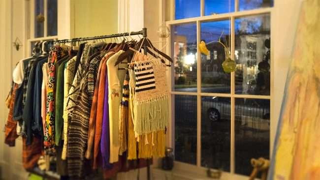 Dec 8, 2017 - Clothes rack at Herbane Shop inside Smedley Yeiser building downtown Paducah, KY/photnews247.com