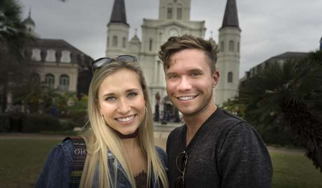 Dec 21, 2017 - Very nice American couple in front of St. Louis Cathedral New Orleans, LA/photonews247.com