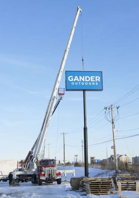 Jan 20, 2018 - Gander Outdoors signage added along US-24, Paducah KY/photonews247.com
