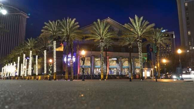 Dec 20, 2017 - Harrah's Casino New Orleans Christmas lights on palm trees/photonews247.com
