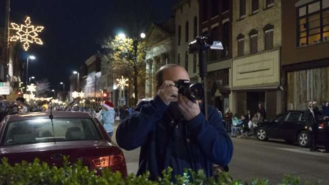 Dec 2, 2017 - News Media taking photos during Paducah's Christmas Parade on Broadway in historic downtown Paducah, KY/photonews247.com