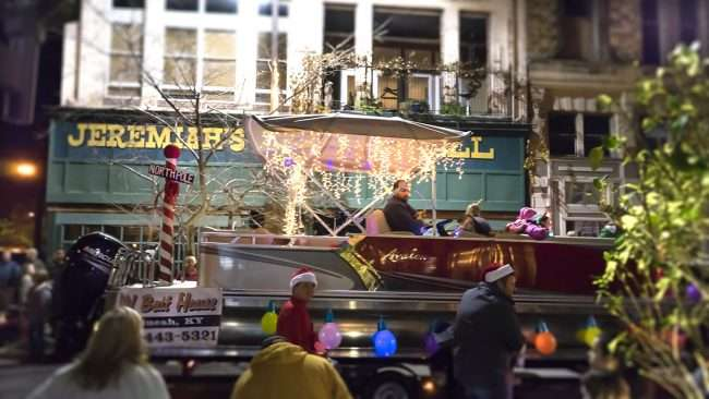 Dec 2, 2017 - Old Bait House Float participating in Christmas Parade on Broadway Street in historic downtown Paducah/photonews247.copm