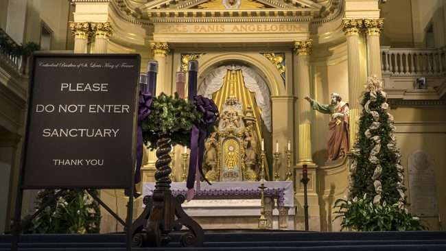 Dec 21, 2017 - Sanctuary do not enter St Louis Cathedral New Orleans LA/photonews247.com