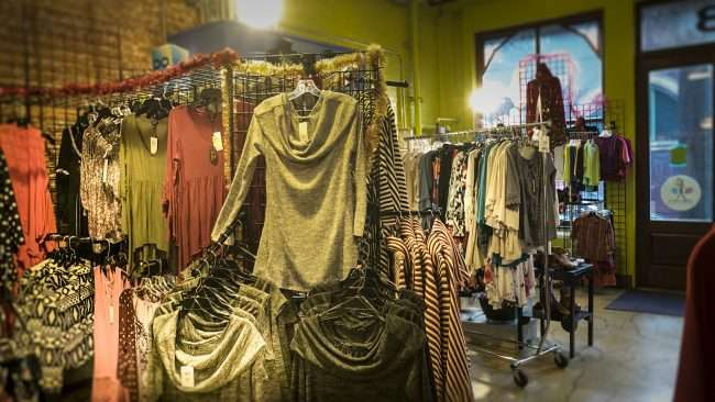 Dec 16, 2017 - Shane Lee Boutique with Shane Lee clothing on racks downtown Paducah, KY/photonews247.com