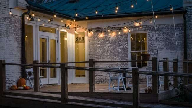 Dec 9, 2017 - Smedley Yeiser Event Venue with a view of the backyard deck in Lower Town Art District downtown Paducah, KY/photonews247.com
