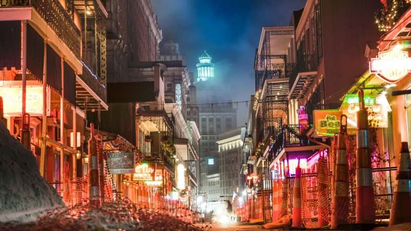 Dec 21, 2017 - Construction on Bourbon Street in New Orleans, LA/photonews247.com