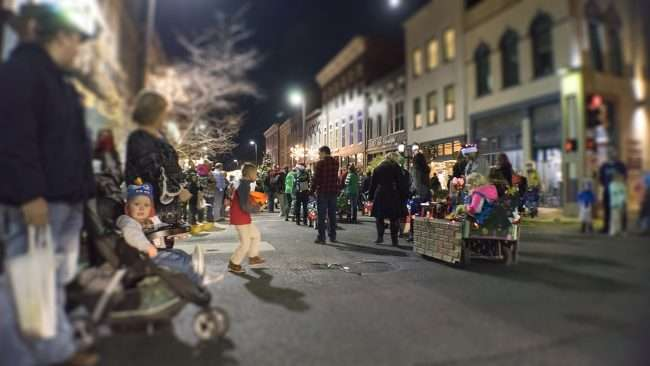 Dec 2, 2017 - Youth going towards float during Let it Glow Christmas Parade in Downtown Paducah/photonews247.com