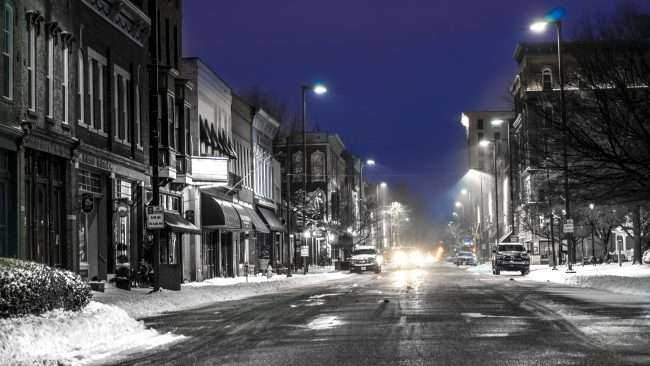 Jan 12, 2018 - First Snow on Paducah Main Street Jan 12, 2018 Paducah KY/photonews247.com