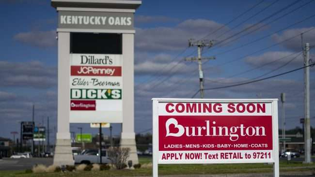 April 19, 2018 - Burlington Dept Store coming to Kentucky Oaks Mall in the former Sears space in Paducah, KY/photonews247.com